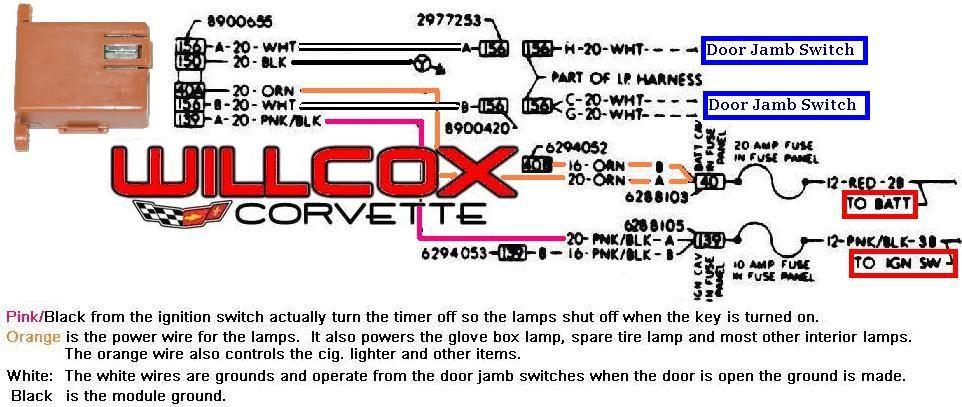 1978 1982 Corvette Delay Timer Schematic Corvette Willcox Switch