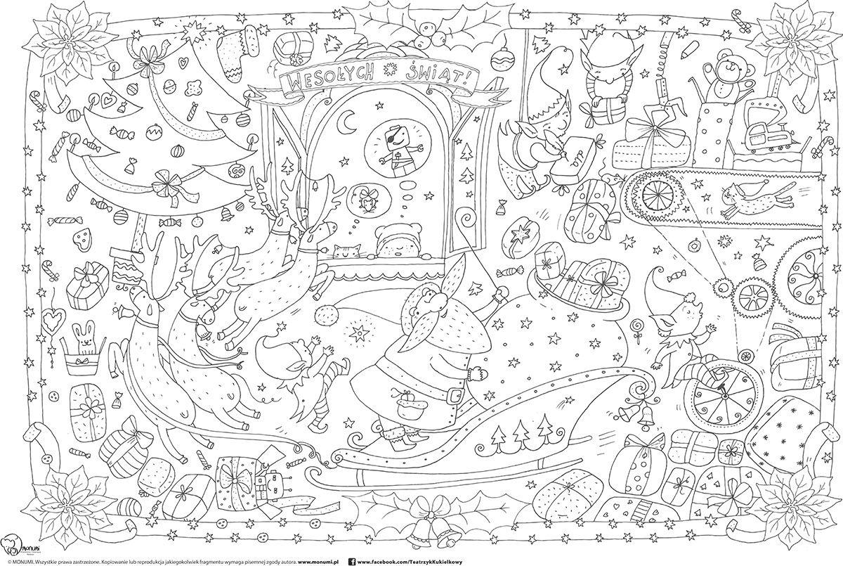 Kolorowanka Xxl Swiateczna Zabawki Artis Colouring Pages Tapestry 2 Colours