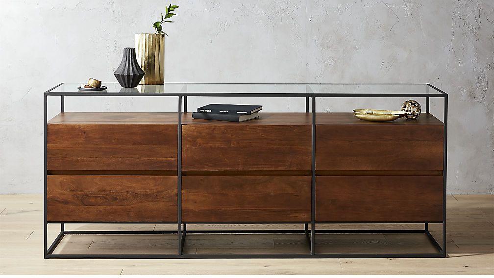 Https Www Cb2 Com Crawford Low Glass Top Dresser S562889 Low Dresser La Furniture Glass Shelves