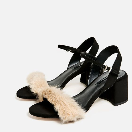 d048812988a Image 5 of FAUX FUR VAMP SANDALS from Zara