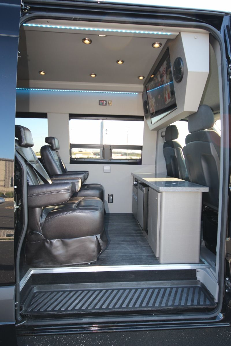 Executive Seated Entertainment Sprinter Van Interior Campervan