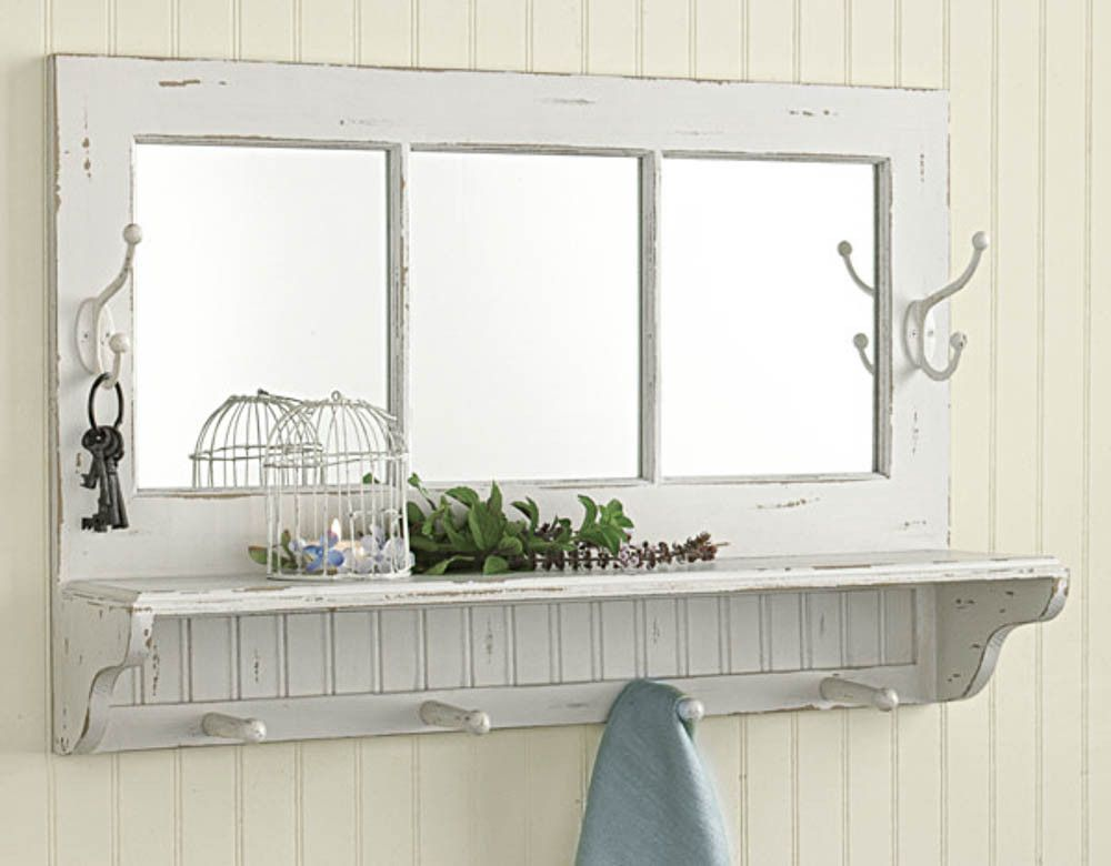 Wood Wall Mirror With Shelf And Hooks Emory Valley Mercantile Wall Shelf With Hooks Mirror With Shelf Cottage Mirrors