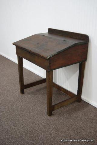 Lot 9 Antique Primitive Pine Slant Top Writing Desk Woodworking Desk Plans Primitive Furniture Colonial Furniture