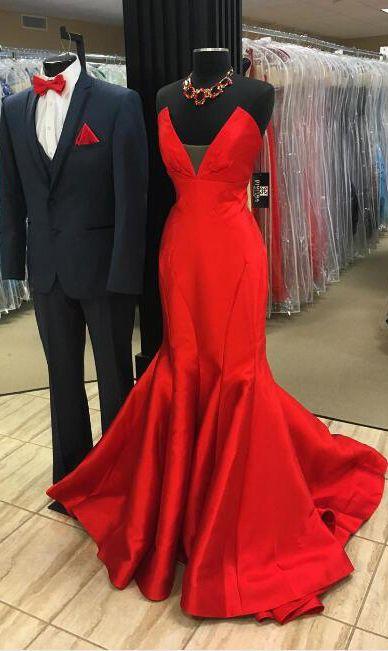 Red Sleeveless Mermaid Dress