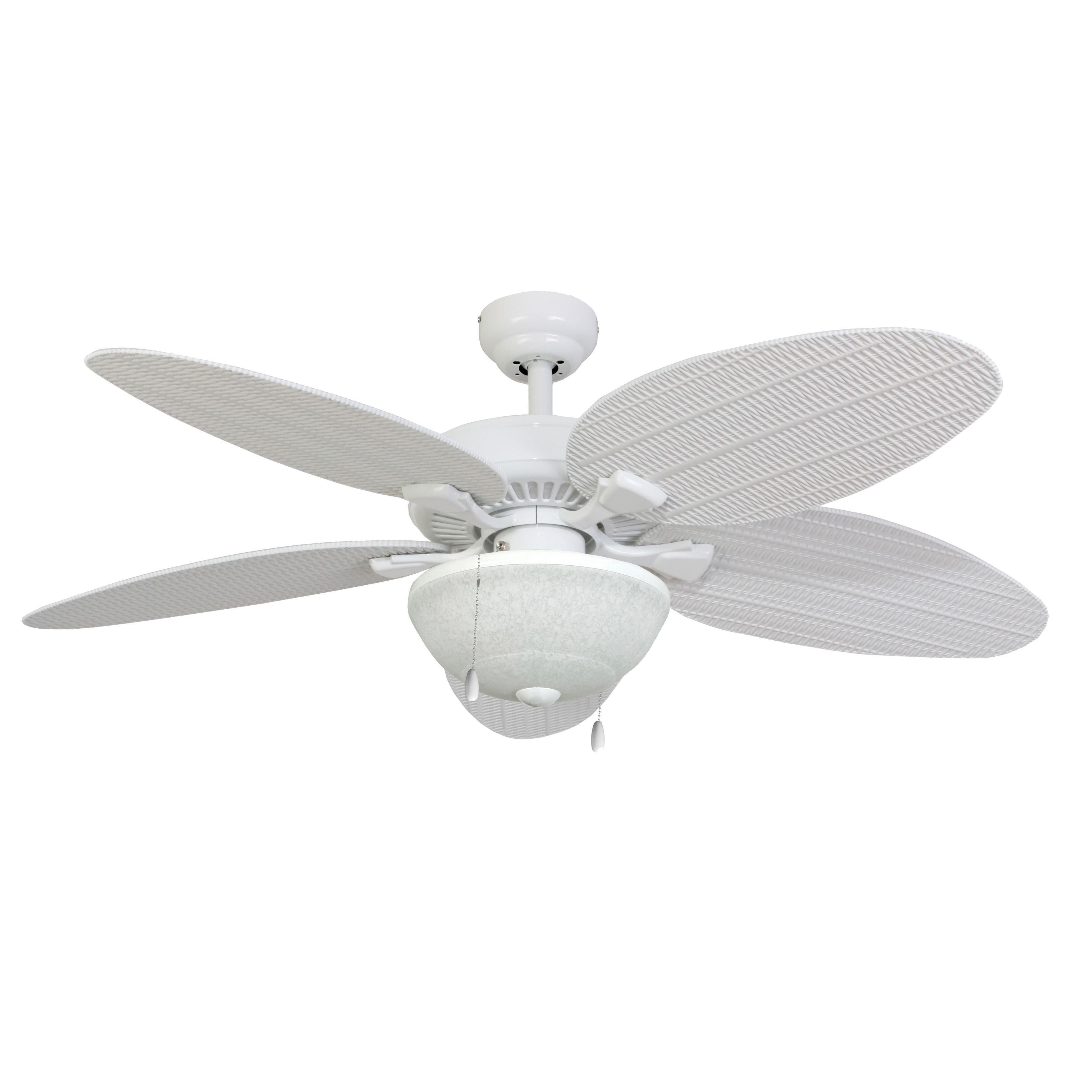 Eco Sure EcoSure Siesta Key 52 inch Tropical White Bowl Light
