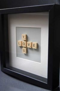 Brigitte Herrod - Scrabble LOVE YOU Picture - Black Frame