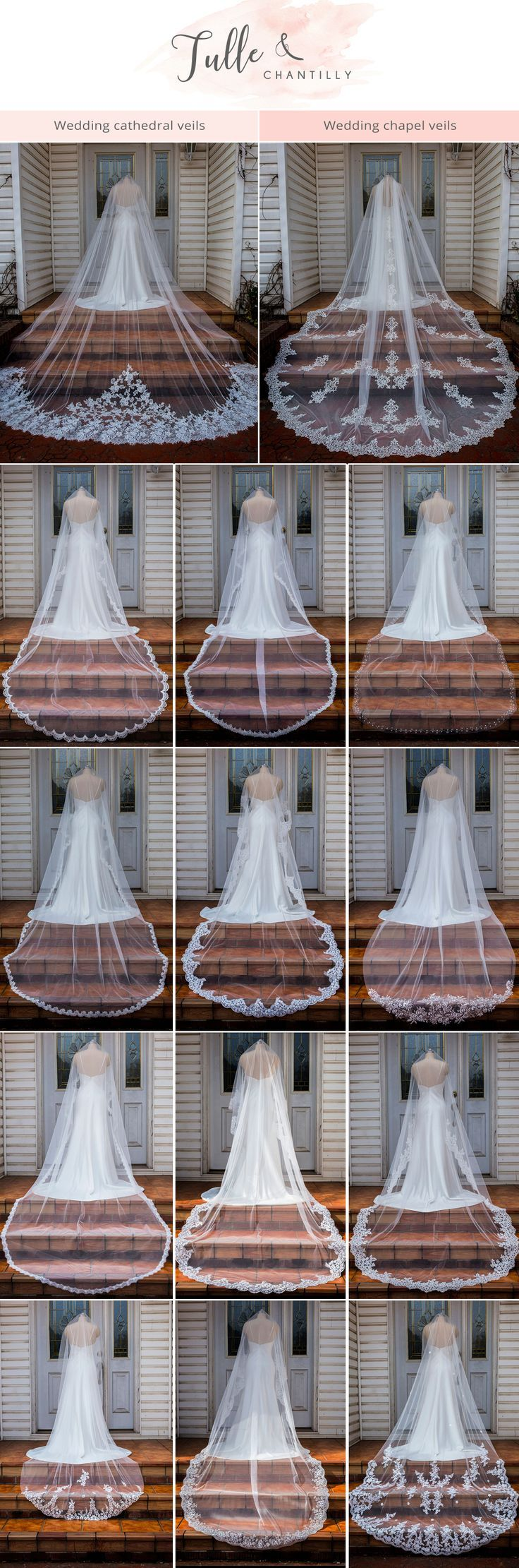Cathedral wedding dress  Veils  Spanish veil Cathedral wedding veils and Cathedrals