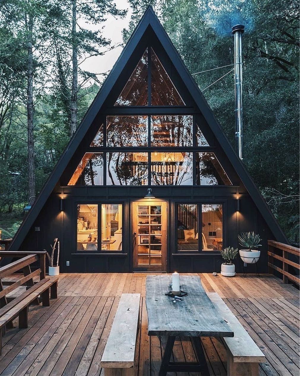 Ocenite Dizajn Ot 1 Do 10 A Frame Cabin Is Designed By Blythedesignco And Is Located A Frame House Plans House Exterior Tiny House Cabin