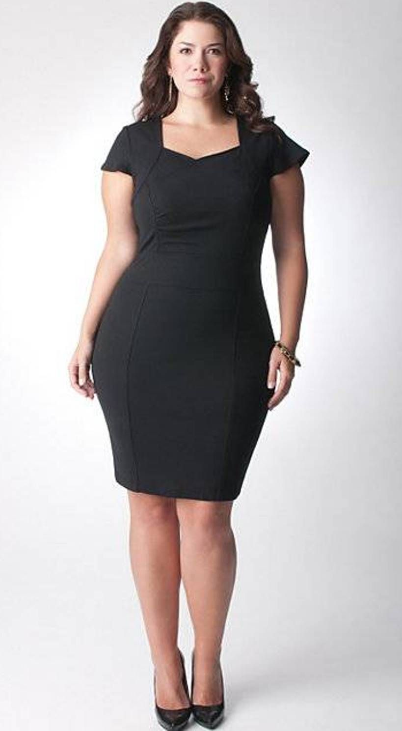 simple plus size little black dresses | Tenidas Formales / ideas ...