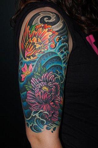 Japanese Tattoo Water Google Search Flower Tattoos Tattoos