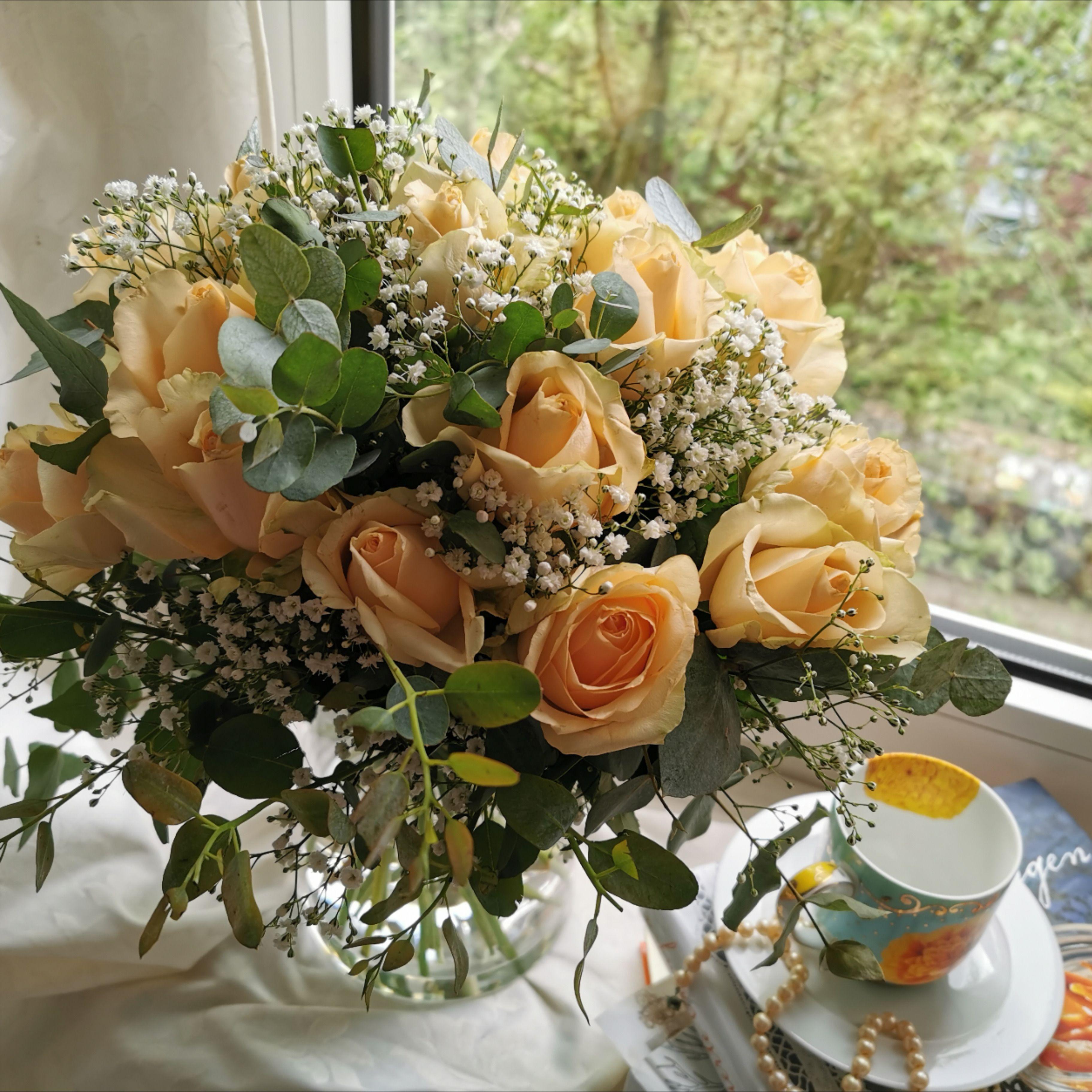 Romantic Stilllife With Roses Stillleben Mit Rosen In Pastell Dream Of Flowers Blumenstrauss Blumen Pfirsich Farbe