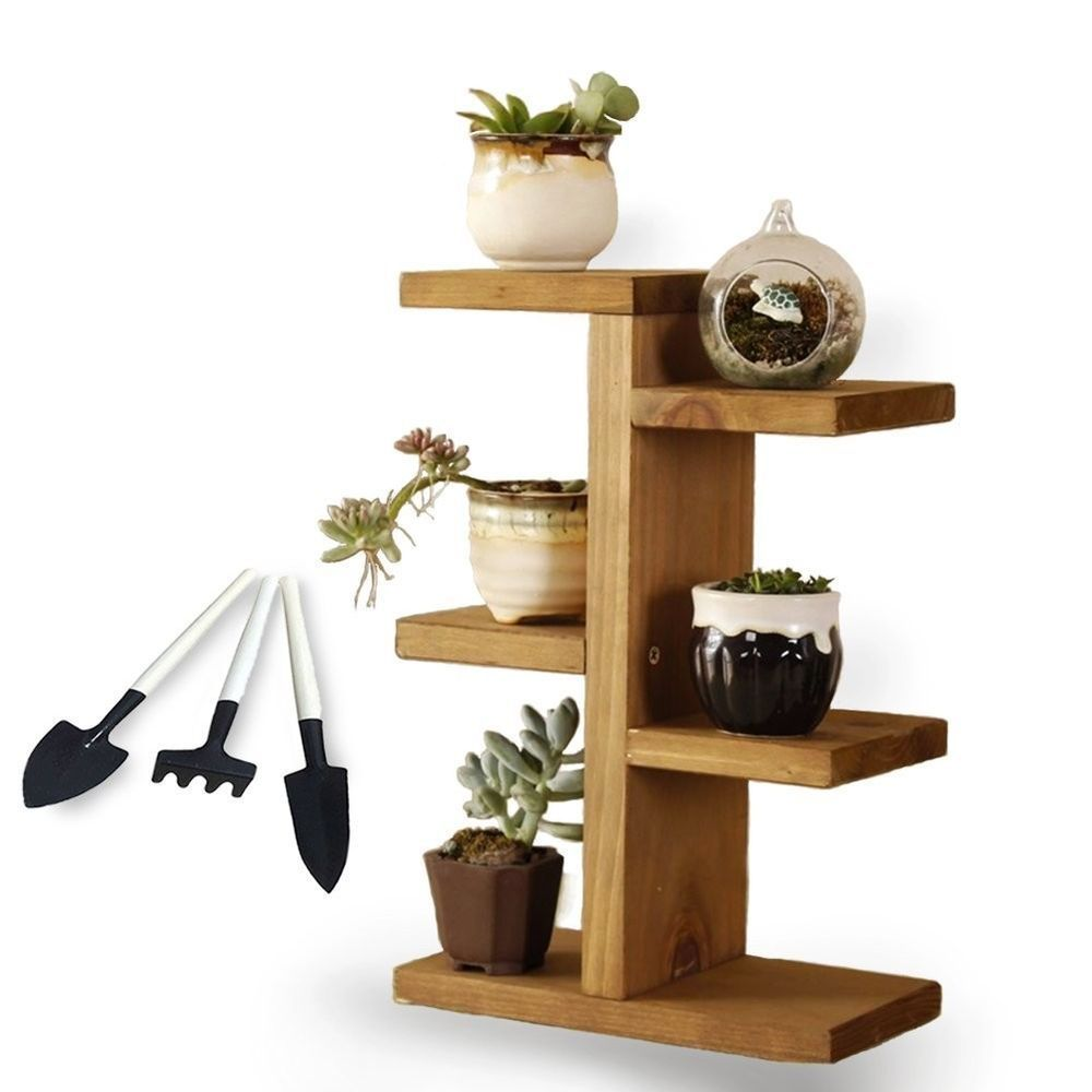Wood Plant Stand 3 Tier Indoor Outdoor Shelf Planter Rack Flower Pot Shelf Decor Jeerbly Wood Plant Stand Small Plant Stand Plant Shelves
