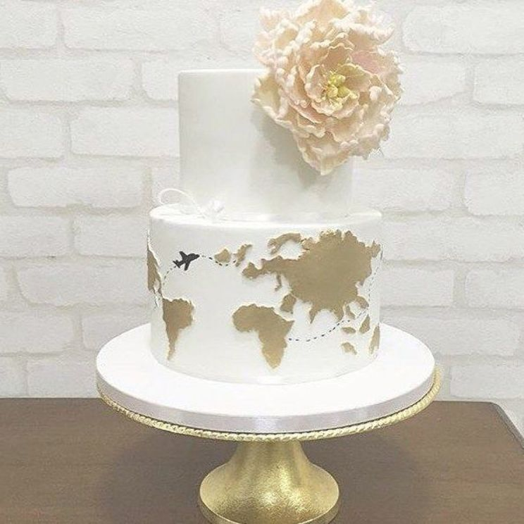Wir Diesen Kuchen Von Missshortscakes Our Wedding Diesen Kuchen Cake Diese In 2020 Cake Decorating Company Travel Wedding Cake Creative Wedding Cakes