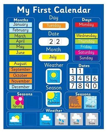 Calendar Skills Using a Monthly Calendar with Young Children - school calendar