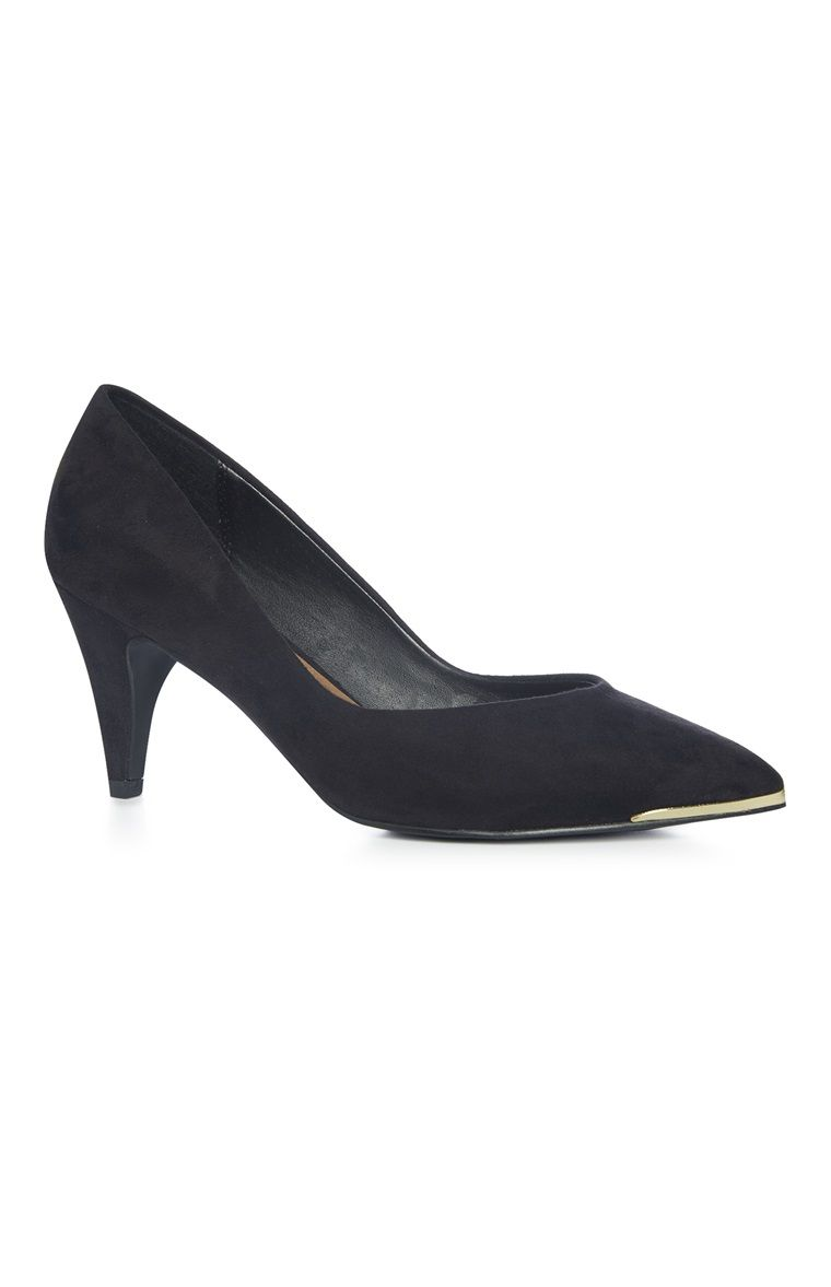 5954fb59321 Zapatos de tacón bajo con detalle metálico negros | Zapatos ...