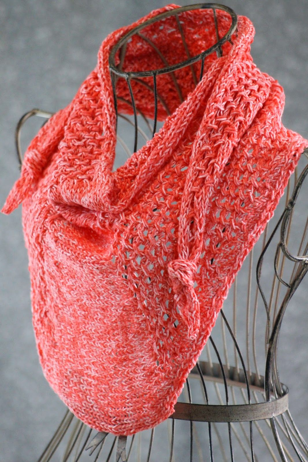 Star Cluster Mini Shawl: made with about 300 yards of sport weight ...