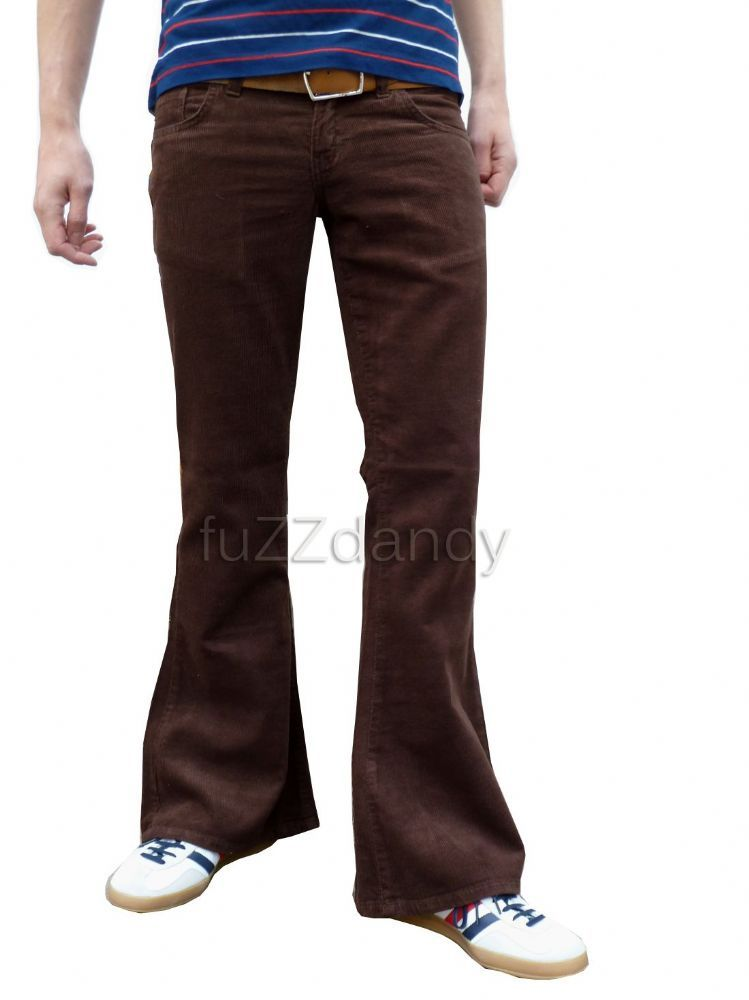 Classic Cords Flare Corduroy Bell Bottom Flares Brown