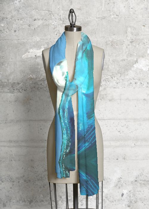 Modal Scarf - ABSTRACT NATURE GREEN by VIDA VIDA