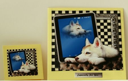 Male card Tablet &amp  Beautiful Dog by Linda Wright