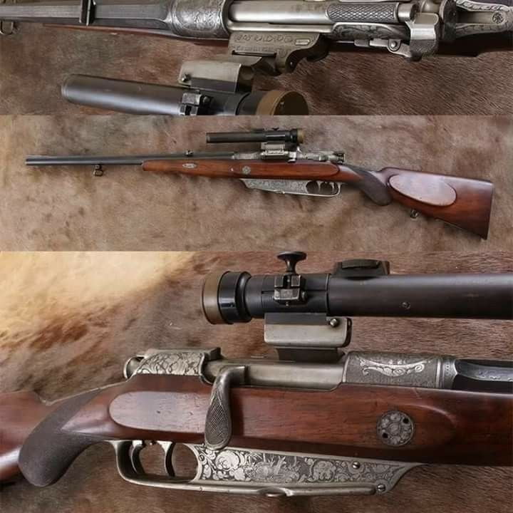 Mauser~ Highly embellished 1888 Sporter, in 8mm    beautiful
