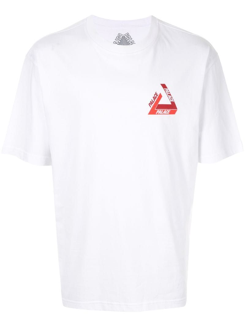 Tri Shadow T Shirt In White T Shirt Palace