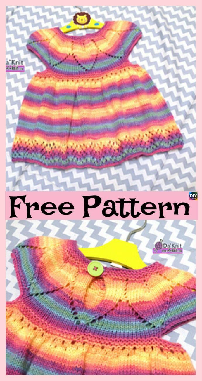 Stylish knitting and crochet dress