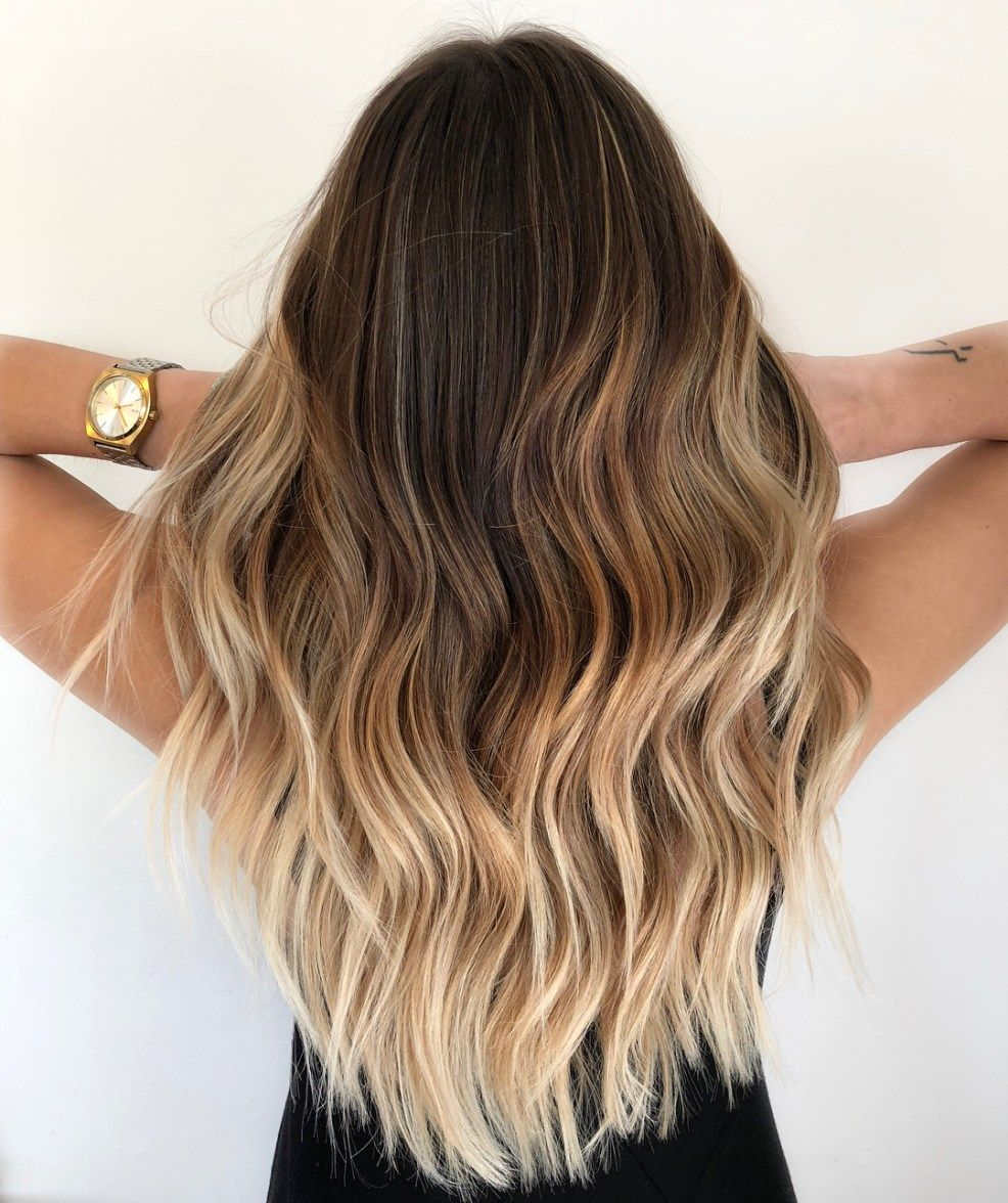 46++ Long brown to blonde balayage trends