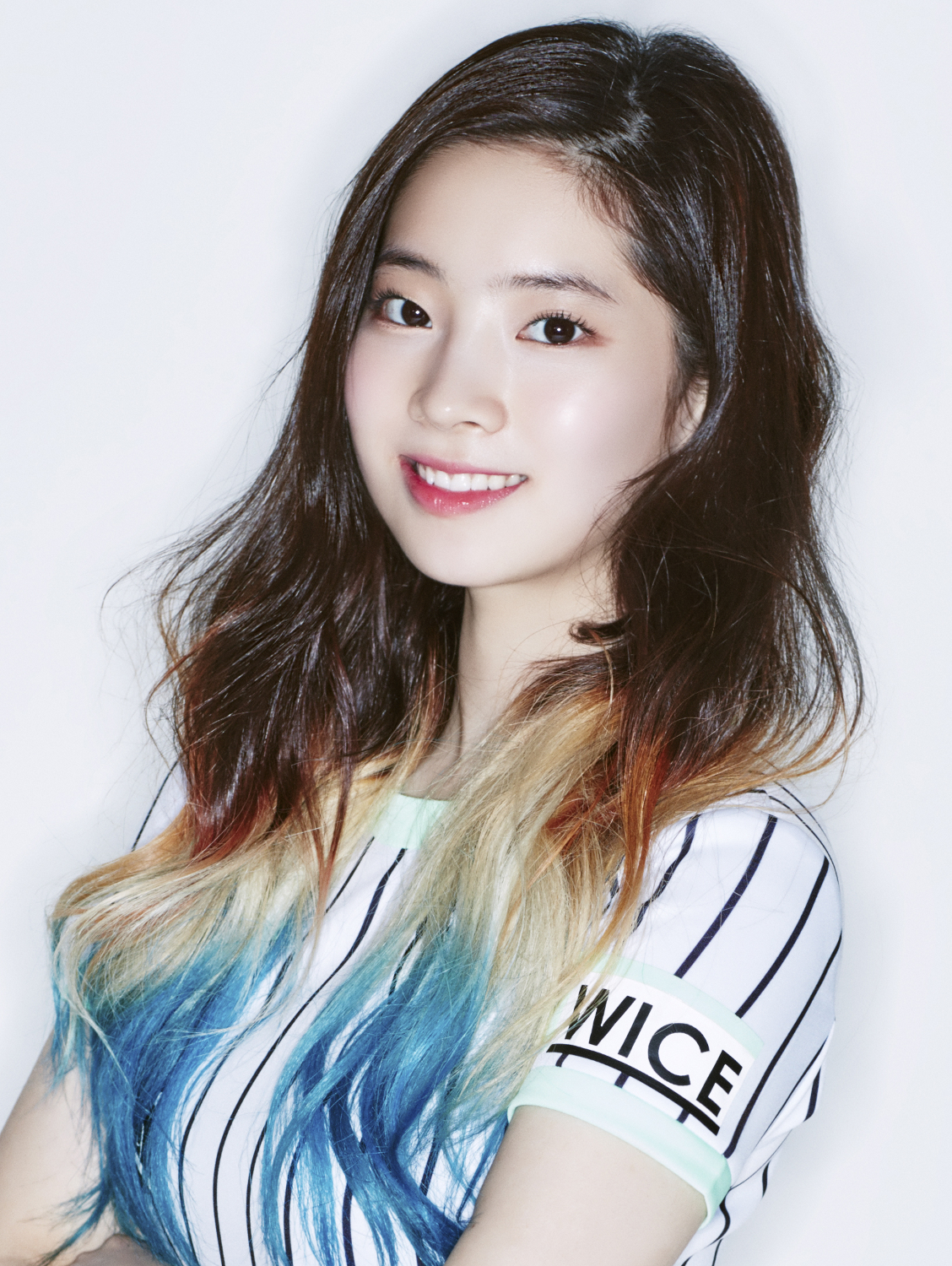 Dahyun From Twice With Blue Ombre Hair  Haircoloring  Pinterest  Blue O