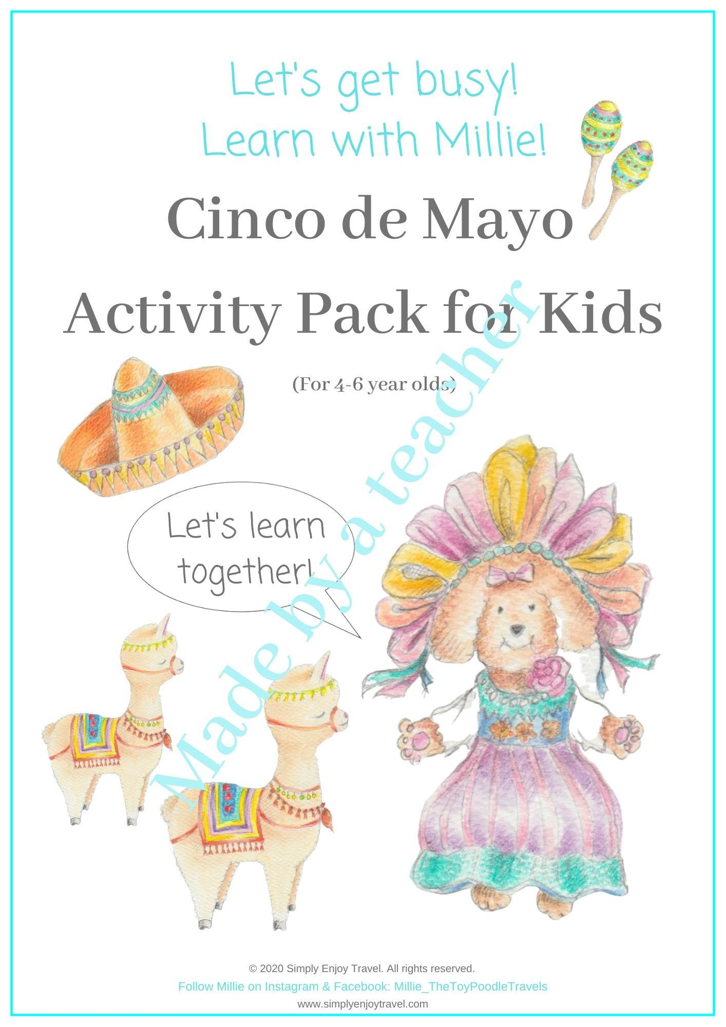 Cinco De Mayo Activity Pack For Kids In