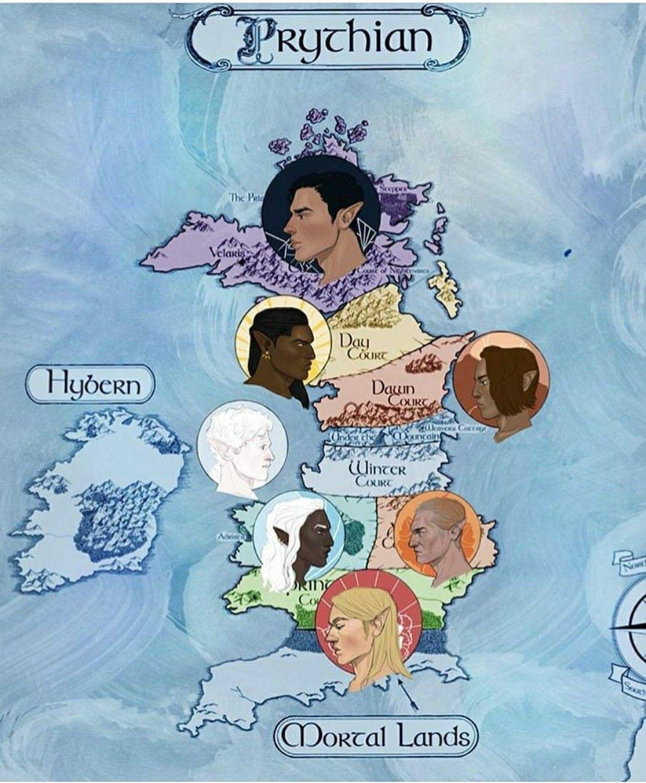 Mapa De Prythian With Images Sarah J Maas Books Book Art