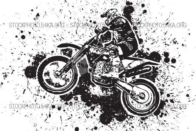 Enduro Offroad Motocross Vector Graphic Illustration