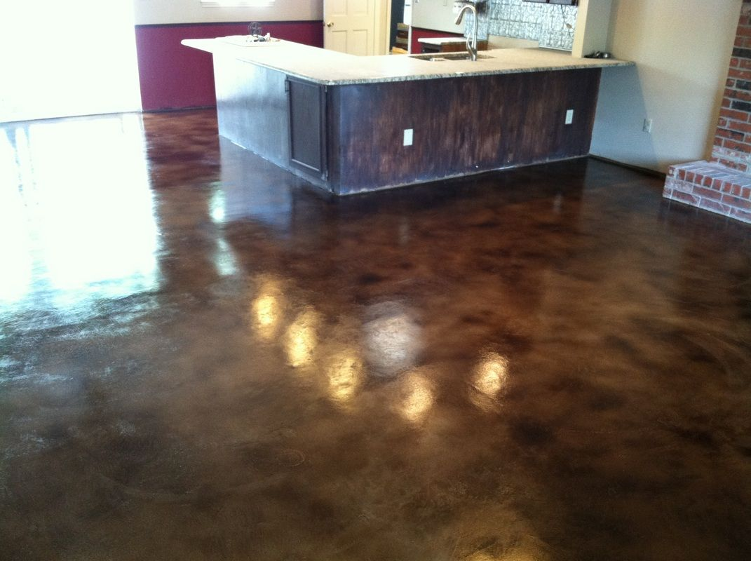 Solid impressions concrete staining abilene texas - Interior concrete floor stain colors ...