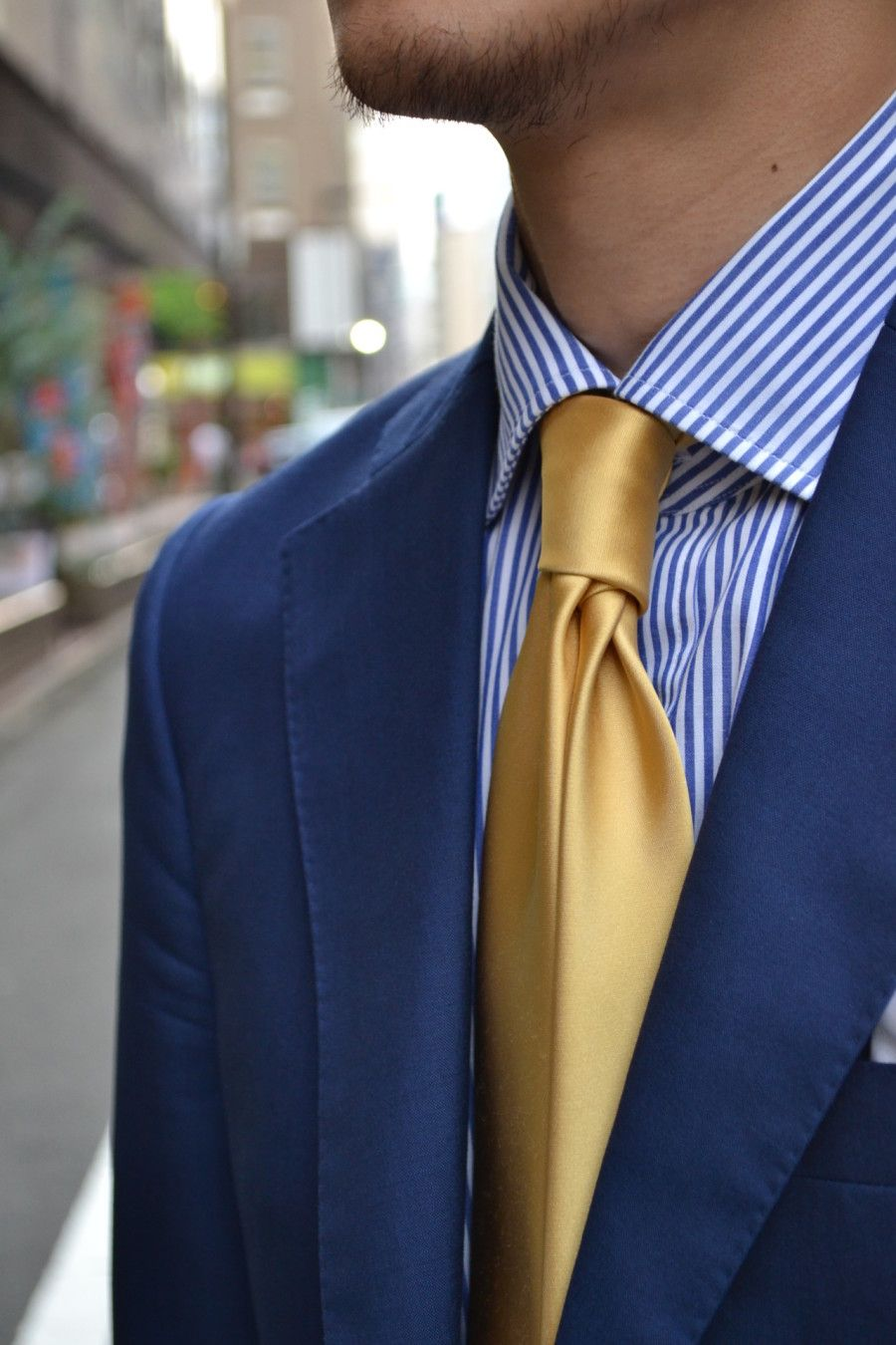 gold ties mens fashion pinterest blue suit style
