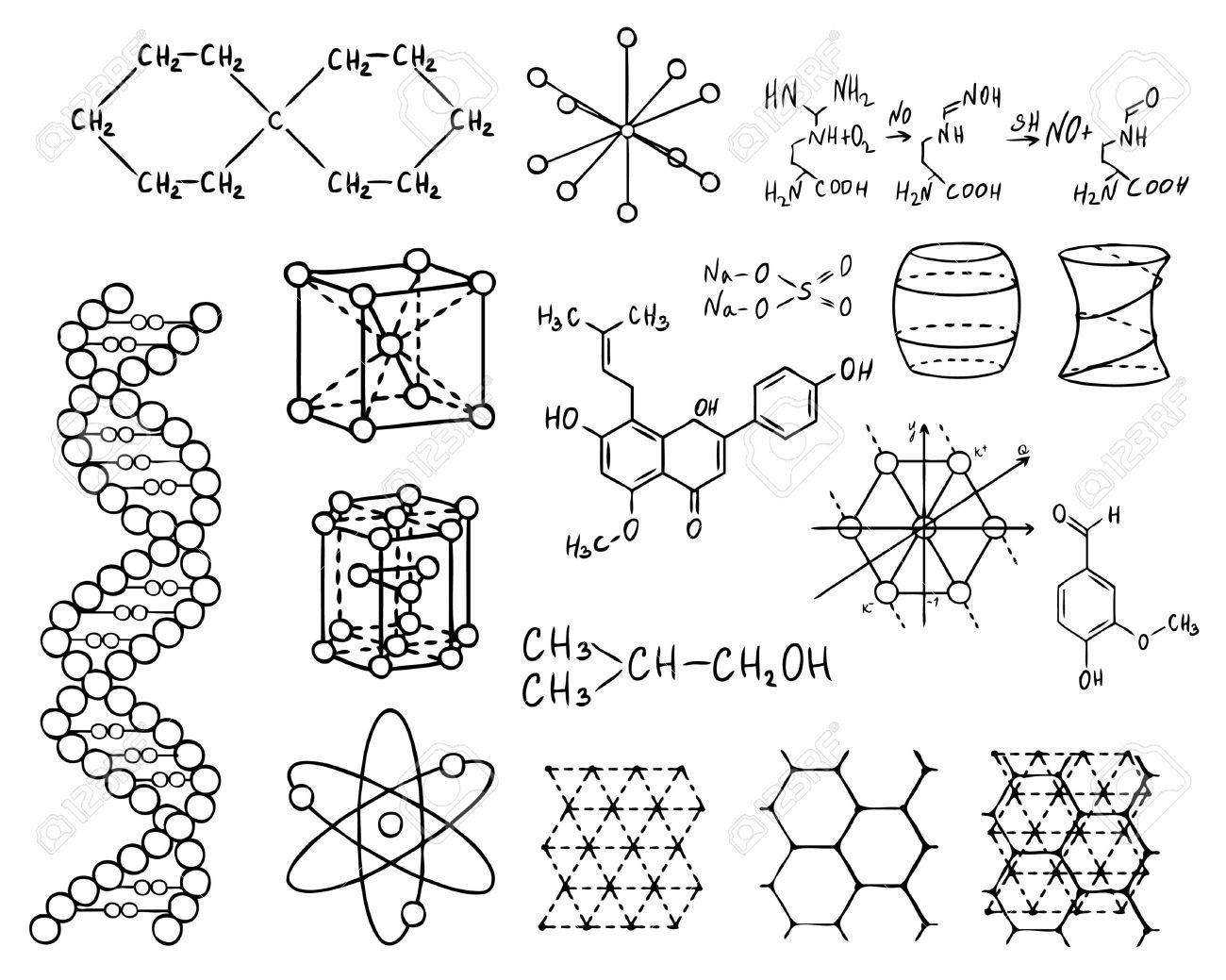physics and chemistry vector set