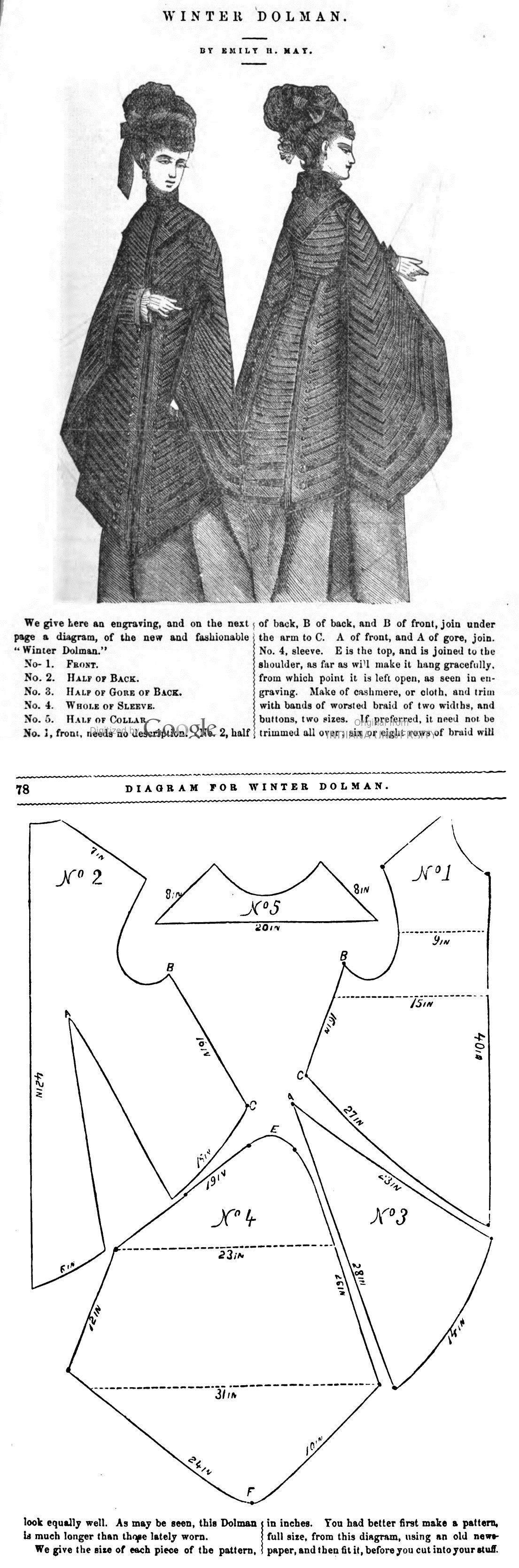 Peterson\'s Magazine 1875 | ιστορικα πατρον | Pinterest | Trajes de ...