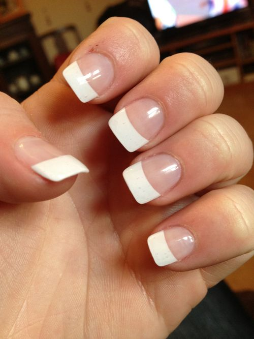 White Acrylic Nails With Designs - White Acrylic Nails With Designs Nail Designs With Gems