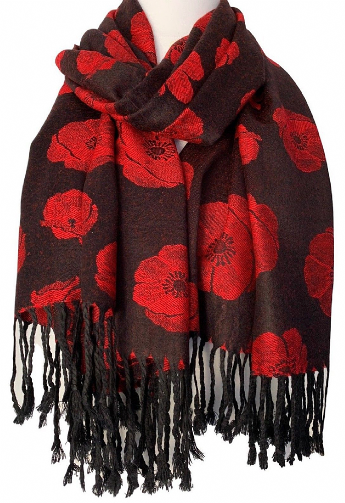 Ladies Red Heart Beige Scarf  Sarong Large Love Hearts Wrap Women Shawl Sarong