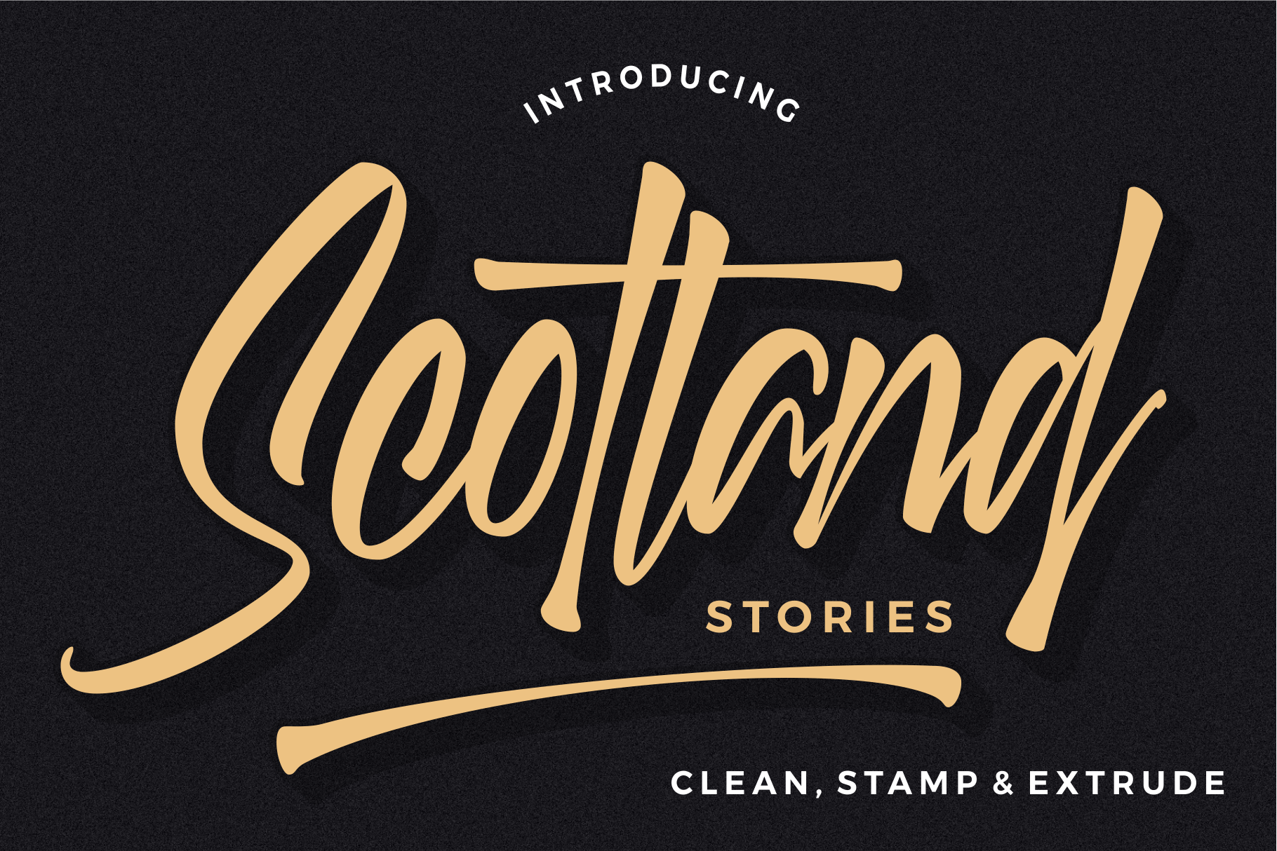 Scotland stories font Lettering, Lower case letters