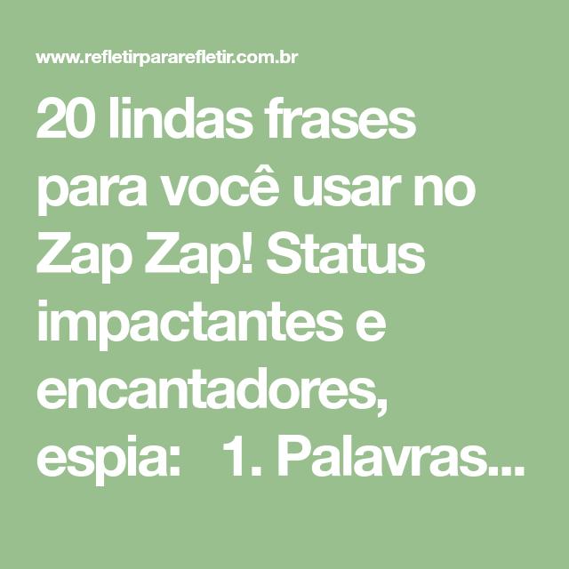 Frases Para Status Do Zap Zap Frases Status Frases Lindas