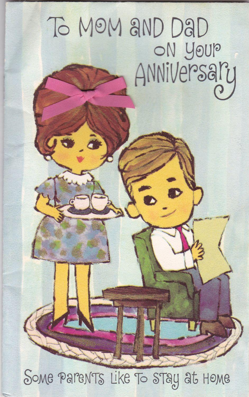 Vintage Anniversary Greeting Card Anniversary greetings