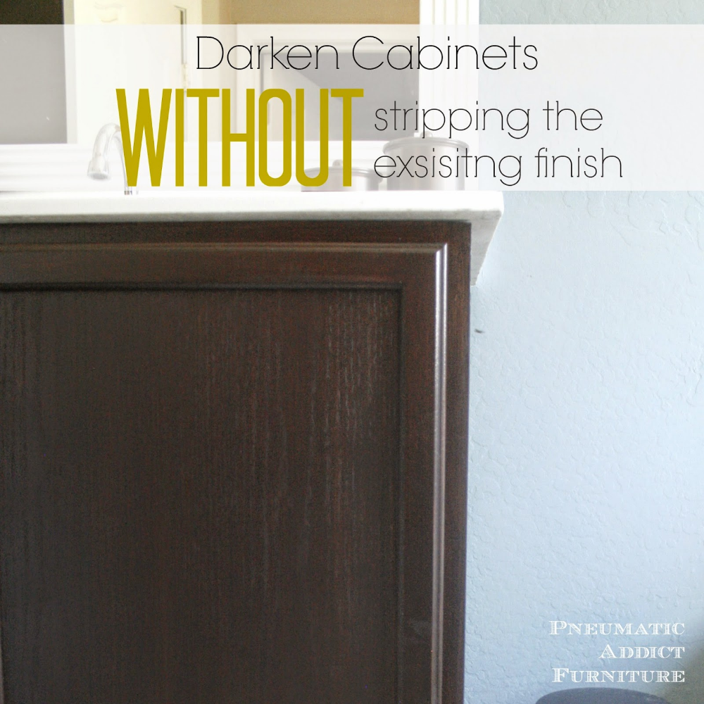 Darken Cabinets Without Stripping The Existing Finish Staining Cabinets Stained Kitchen Cabinets Staining Wood