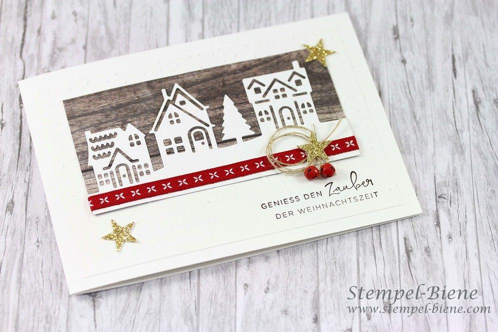 Edle Weihnachtskarten Basteln.Bloghop Team Stempel Biene Weihnachtsideen Geschenke Basteln Deko