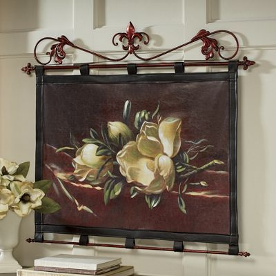 magnolia leatherette wall hanging wall hanging canvas on wall hangings id=63193
