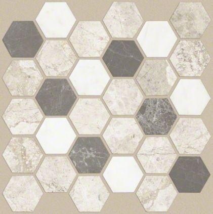 Decorative Ceramic Tile Borders For 2020 Ideas On Foter Hexagonal Mosaic Tile Floor Mosaic Flooring
