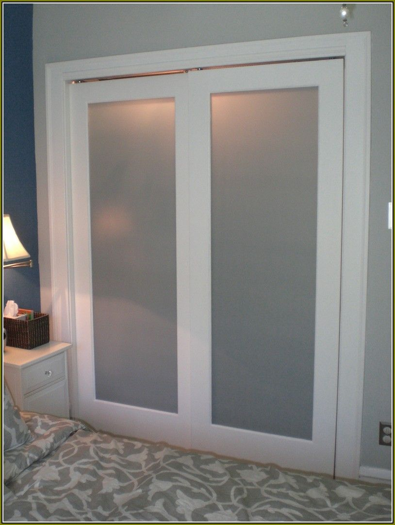 Attirant Frosted Glass Closet Doors Lowes