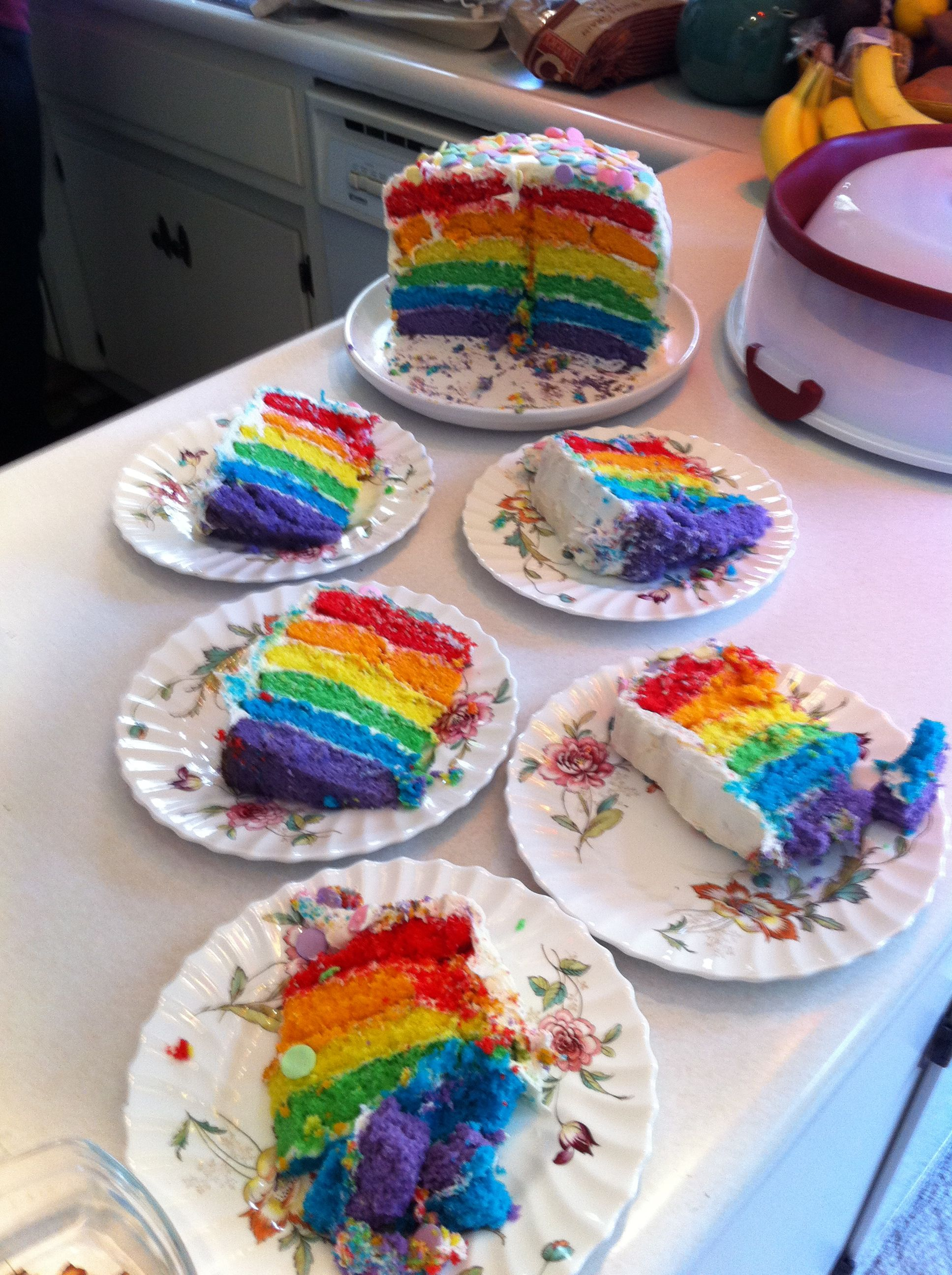 I enjoyed copying the wonderful Rainbow Cake immensely.