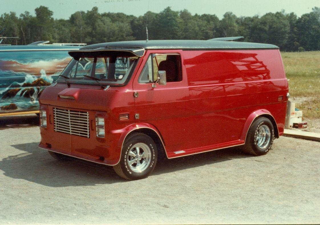 Bad Cut Custom Chopped Ford Van From Ontario Prior To Its Chop