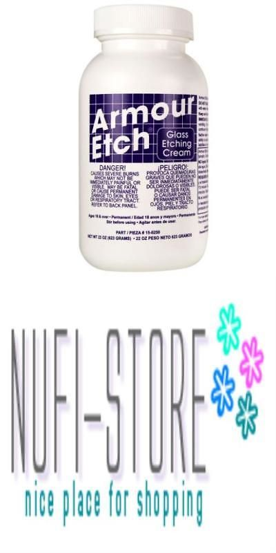 Etching Supplies 163788 Armour Etch Cream 22 Ounce Craft Dishwasher
