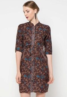 Gambar Model Dress Batik Modern Batik Fashion Di 2019 Pakaian