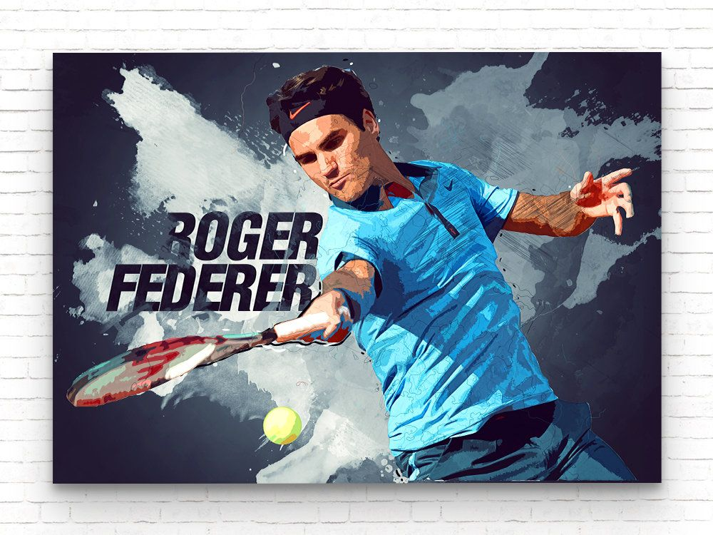 sports art print tennis poster kids